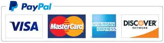 PayPal payment options - PayPal, Visa, Mastercard, American Express, Discover